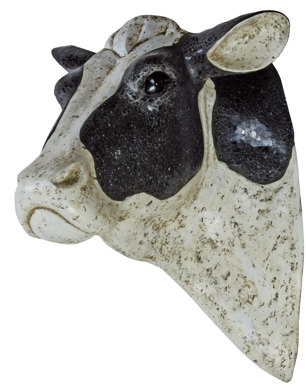 3D glitter cow head wall mount