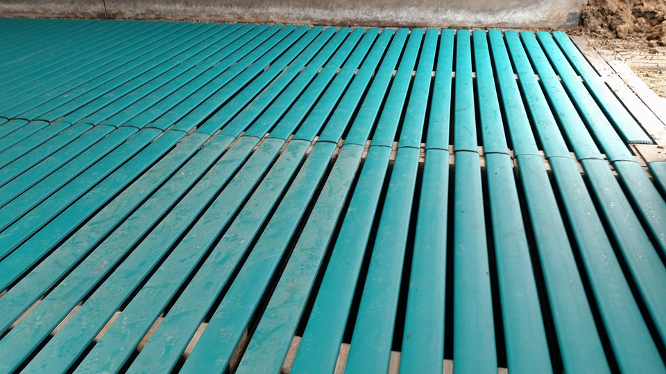 Two rows of Comfort Slat Mats
