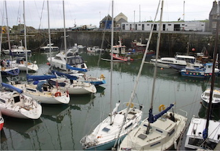 Boats in the harbour at Portpatrick