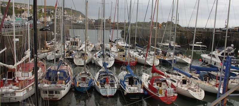 Sailing boats at Portpatrick Harbour, Dumfries and Galloway, Scotland
