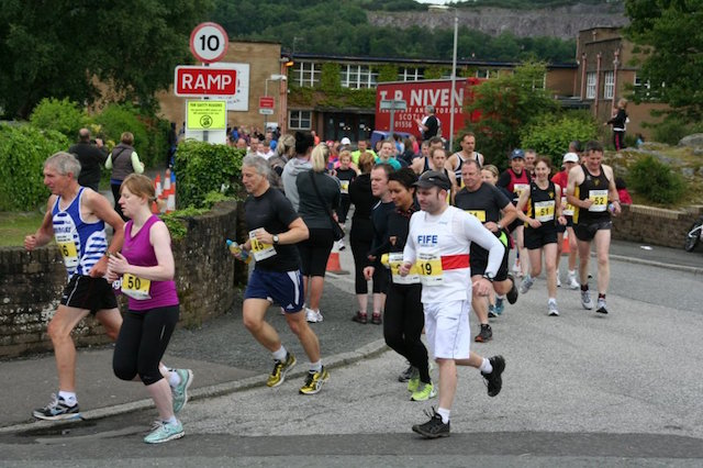 The inaugural Dalbeattie Half Marathon Event in 2012