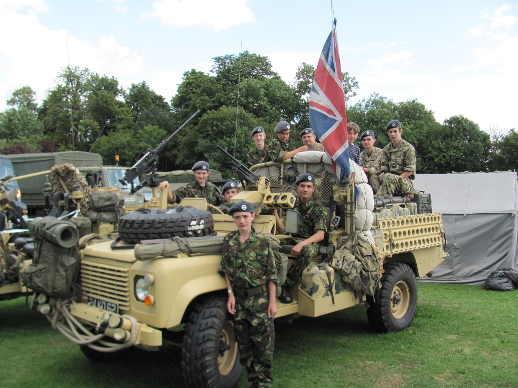 Devizes Air Cadets on Desert Patrol Vehicle