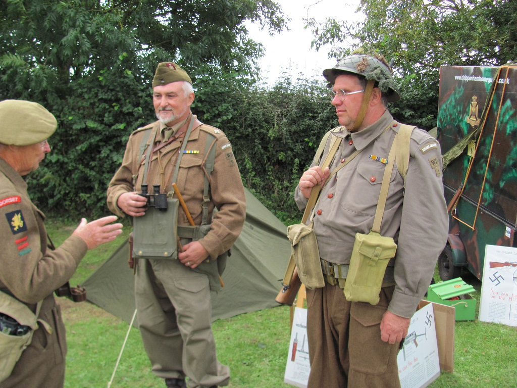 Part of Chippenham Home Guard re-enactment group
