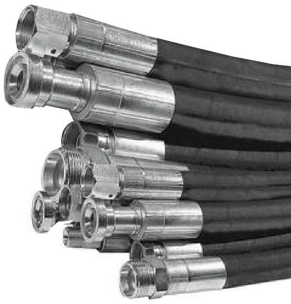 A selection of hydraulic hoses manufactured by Claystapling Limited