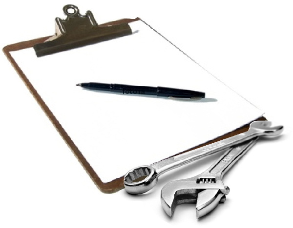 Tools and clipboard
