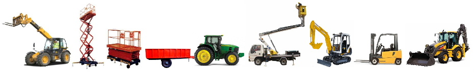 Various types of plant, tractors and forklifts that Claystapling can service and repair