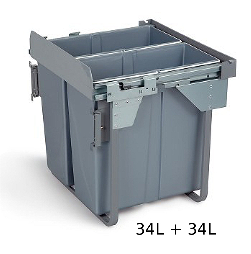 kitchen recycling bins for cabinets pull out kitchen waste recycle soft bin 600mm 21966