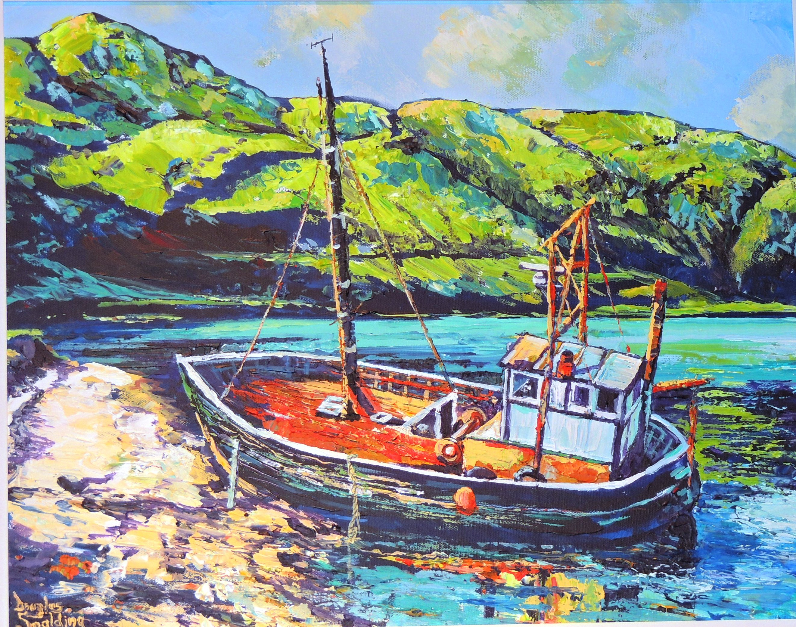 Retired fishing boat in Ardgour