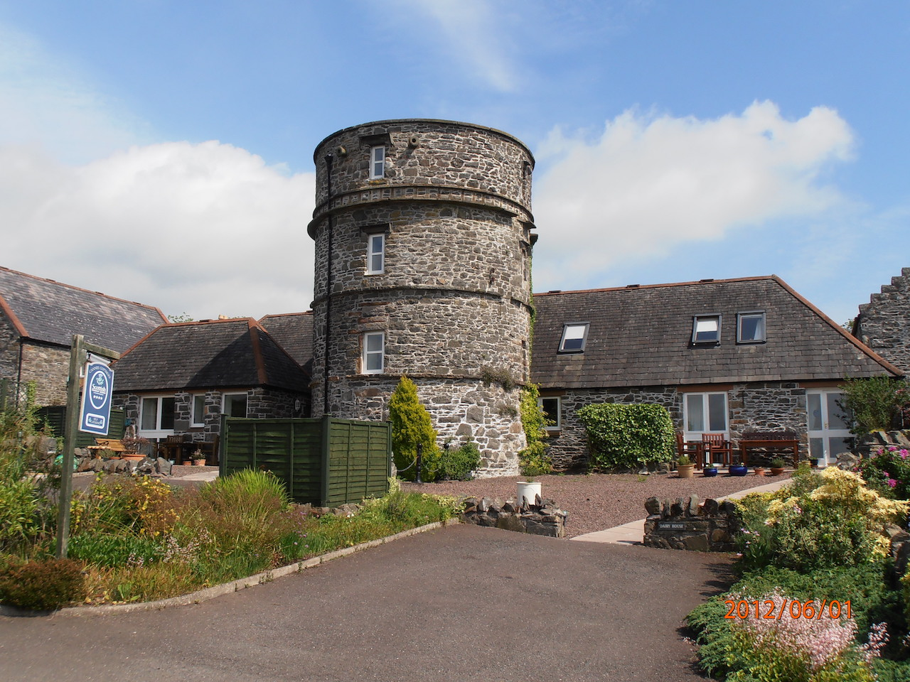 The old cider tower at The Dairy House Kirkcudbright