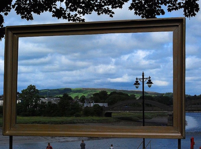 The Artists' Town of Kirkcudbright seen through a picture frame