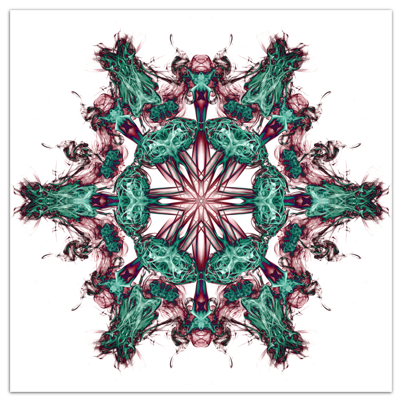 Mandala vortex 04 green