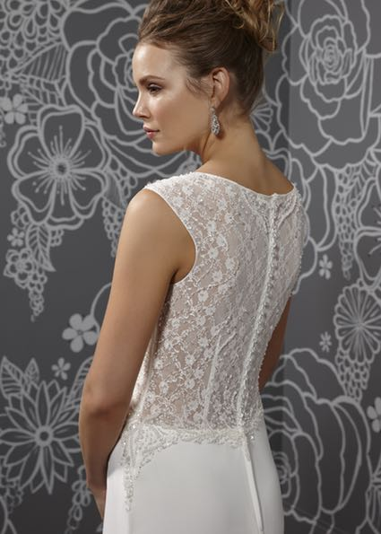 full lace back wedding gown