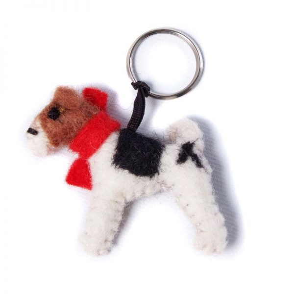 Fox Terrier Key Ring