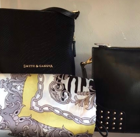 Ladies bags and silk scarves from Nice Stuff Edinburgh