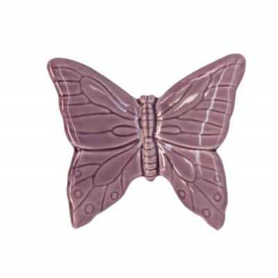 Ceramic Butterfly Wall Ornament Purple GG016