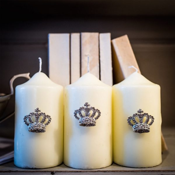 Coronation Crown Candle Pins