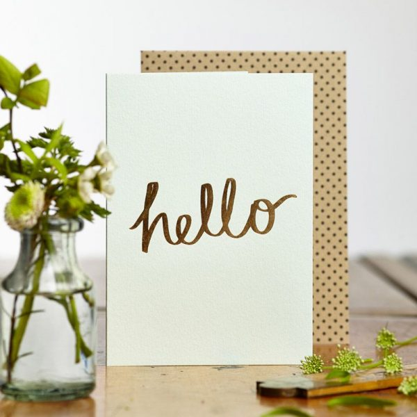 Hello (Card) by Katie Leamon