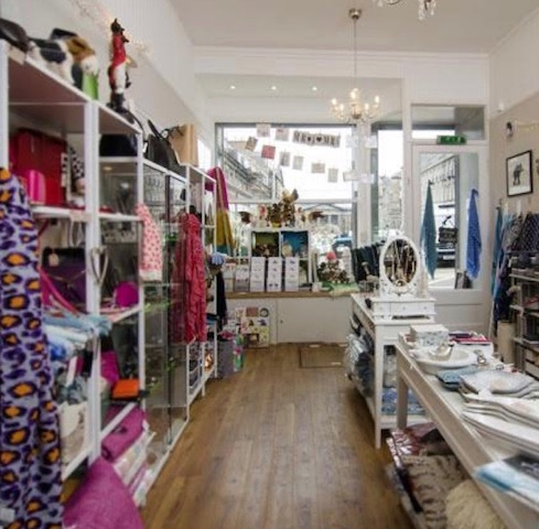 Inside the shop at Nice Stuff Edinburgh
