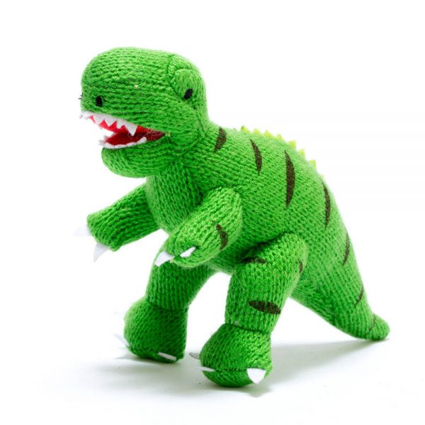 Mini T-Rex Rattle in Green