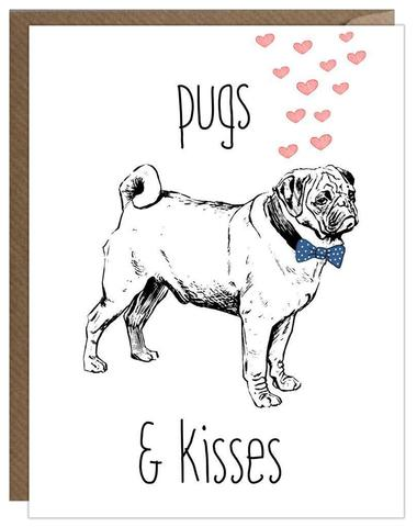 Pugs & Kisses (Card) RFD006