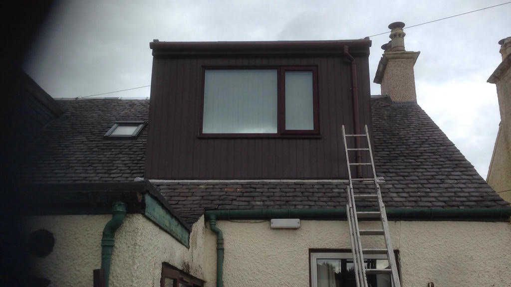 Same dormer window after PVC coating