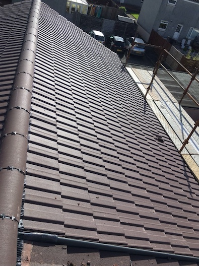 Completing a new roof on a house in Dundonald, Ayrshire