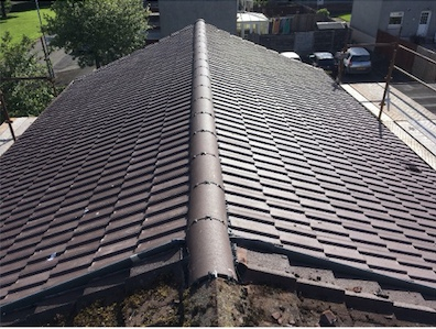 The finished new roof on a house in Dundonald by DC Roof Care of Irvine