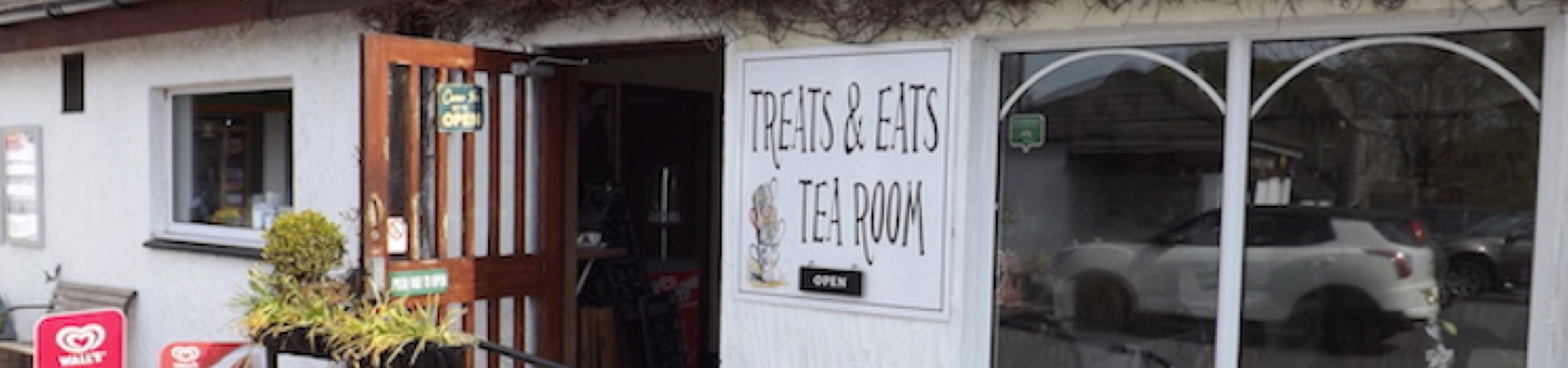 External view of Treats & Eats Tea Room, Colvend, south west Scotland