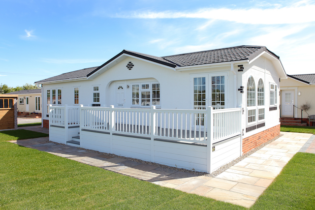 One of the range of park homes available at Ashdown
