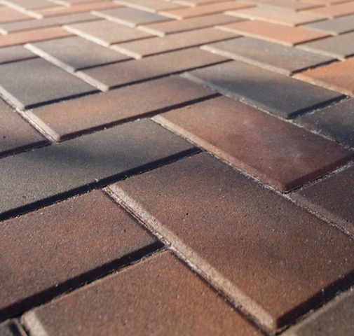 Terracotta block paving