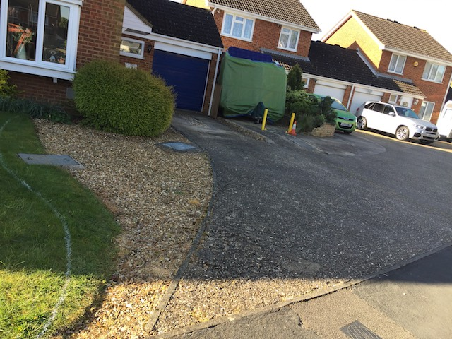 Old driveway prior to The Paving Team commencing work