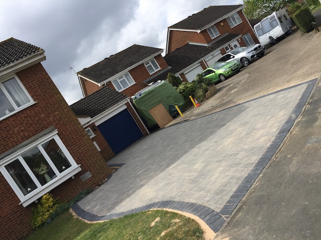 New block pave driveway in Luton completed by The Paving Team