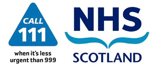 Logo for the NHS Scotland NHS 24 helpline