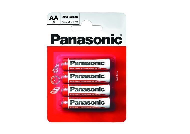 AA Batteries - Panasonic 4 Pack