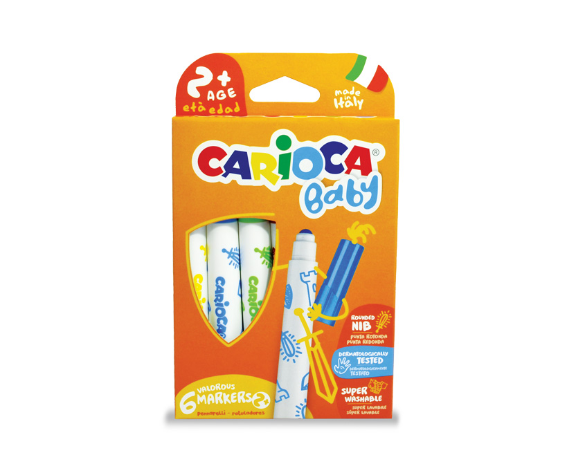 Carioca Baby Marker (6pcs) - Age 24 months +