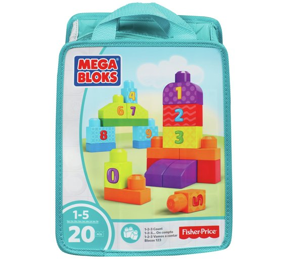 Mega Blox First Builders 123 Count