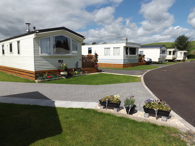 Showing the neat and tidy layout of Penpont Holiday Park