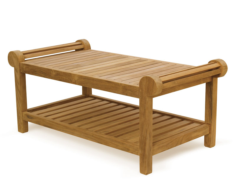 Lutyens coffee table in high quality teak for outdoors use
