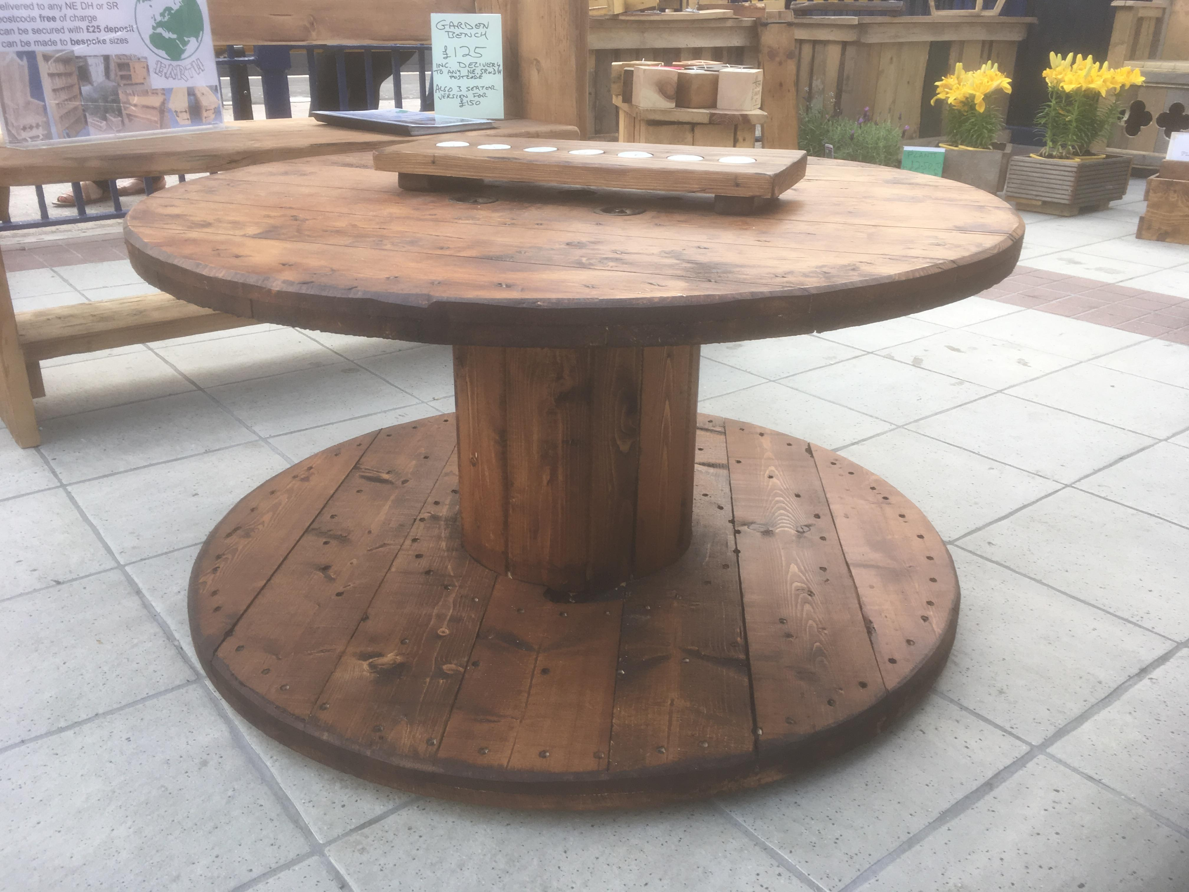 exciting cable spool kitchen table | Cable Reel Tables