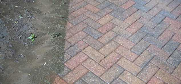 Driveway and Patio high pressure jetwash cleaning Newcastle upon Tyne and Gateshead