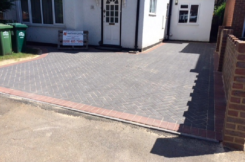 A stunning new driveway in Chertsey by West London Paving