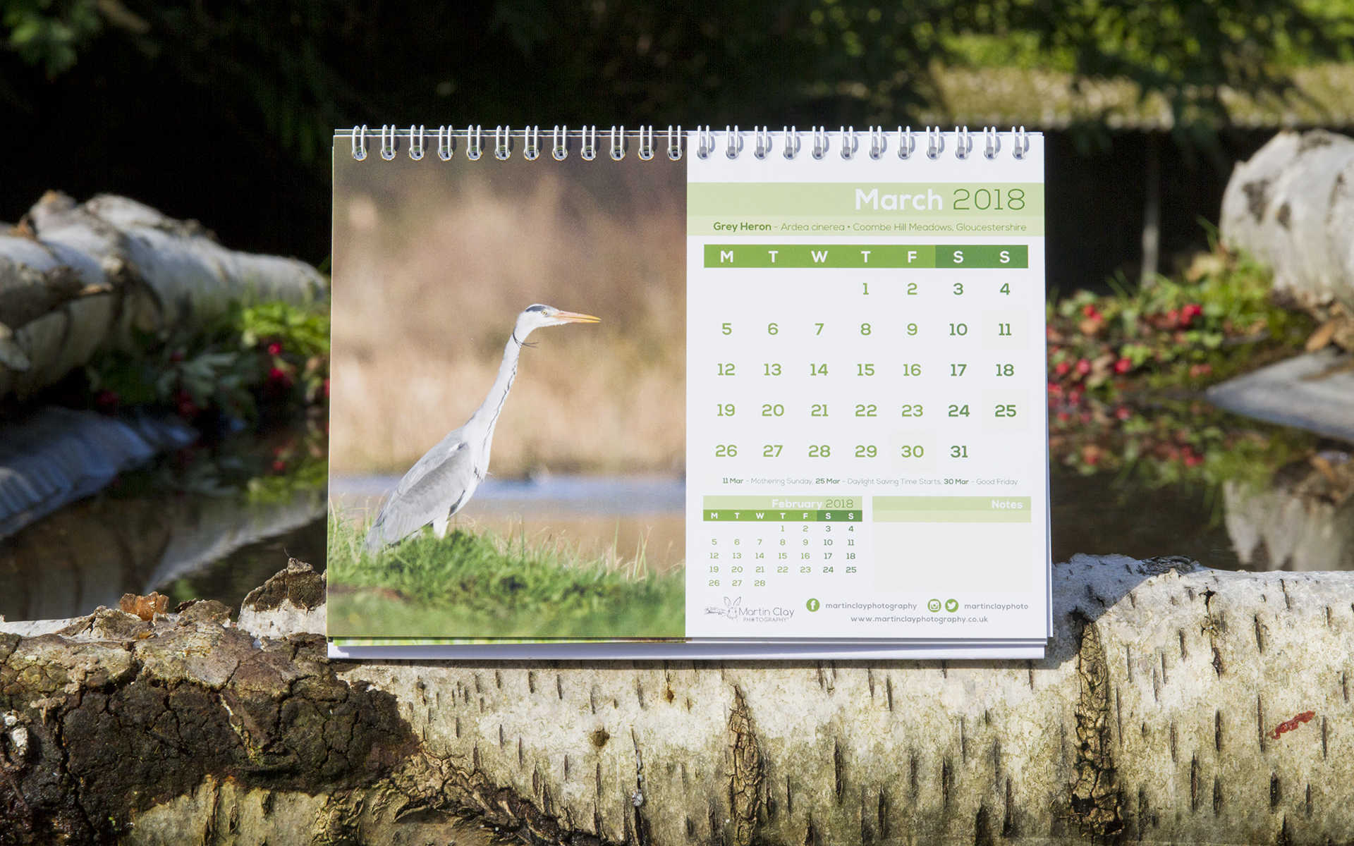 British Wildlife – A5 Desktop Calendar 2018