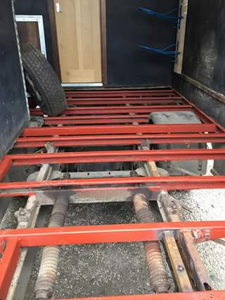 7.5t Horsebox floor prepration