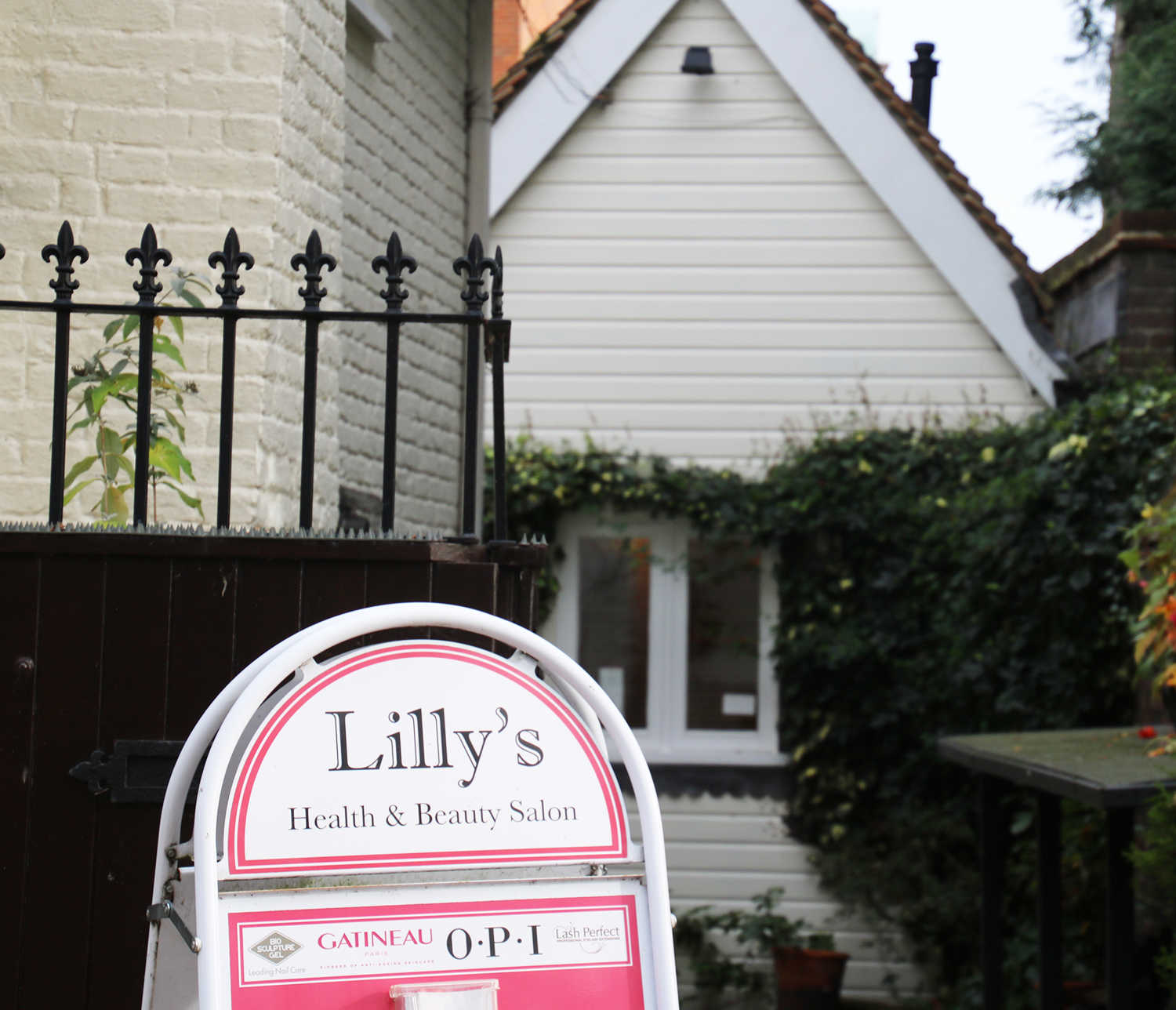 Front entrance to Lilly's Beauty Room in Harpenden, offering a range of beauty treatments for women