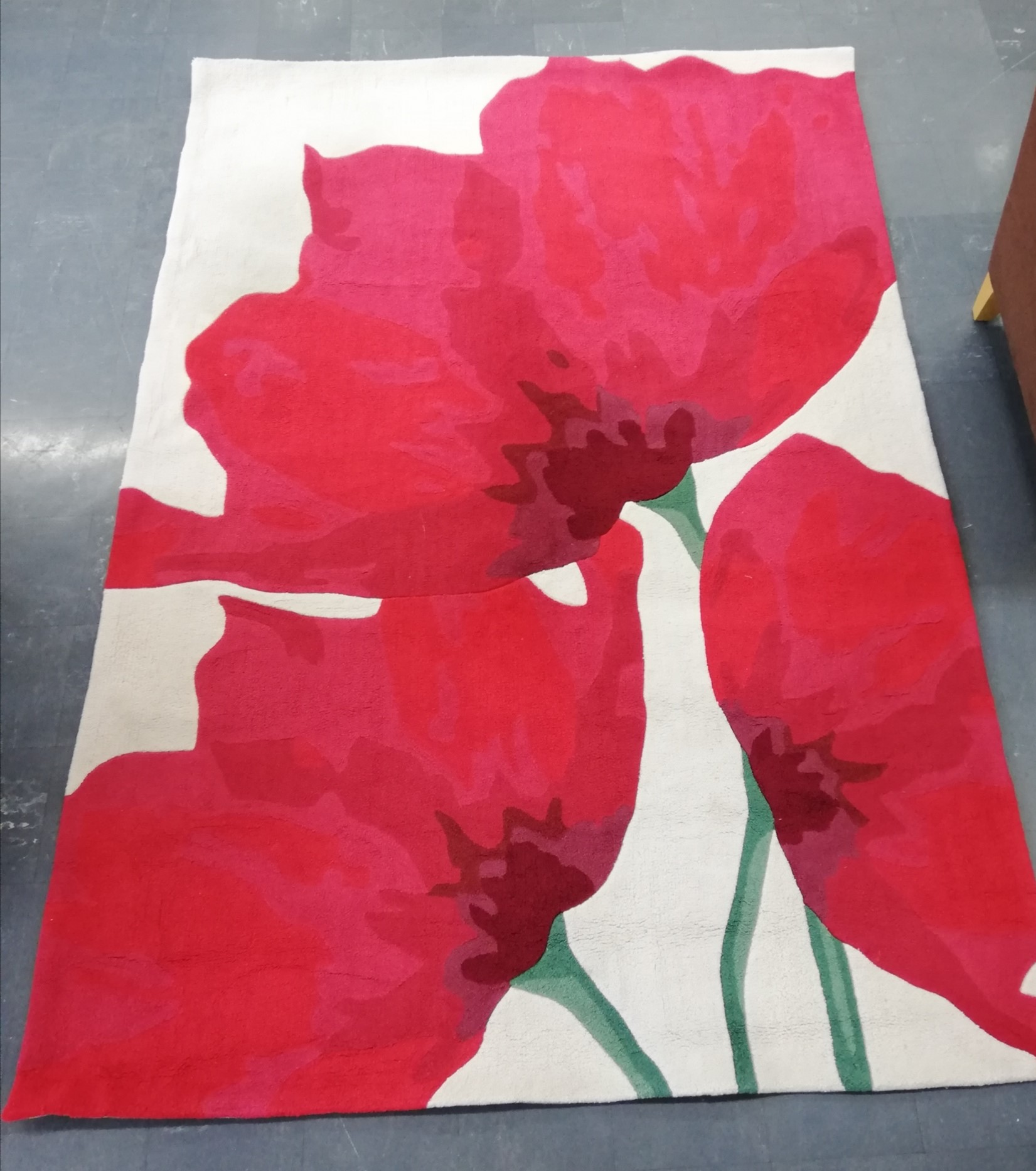 Rug - Poppies design (only 1 in stock)