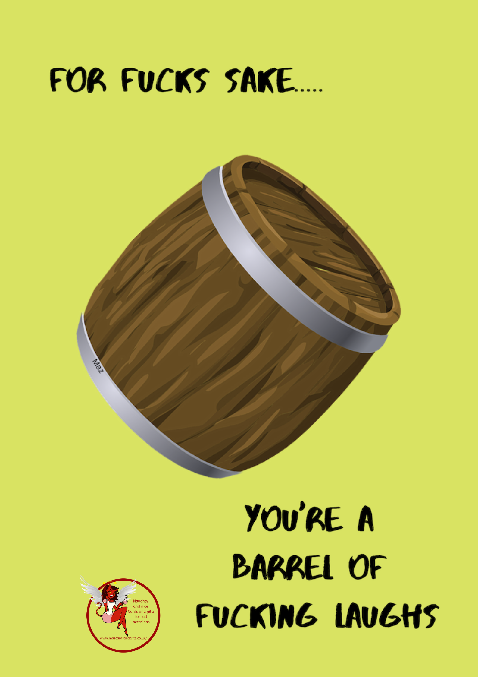 Adult Humour - Barrel Of Laughs - Order No 010