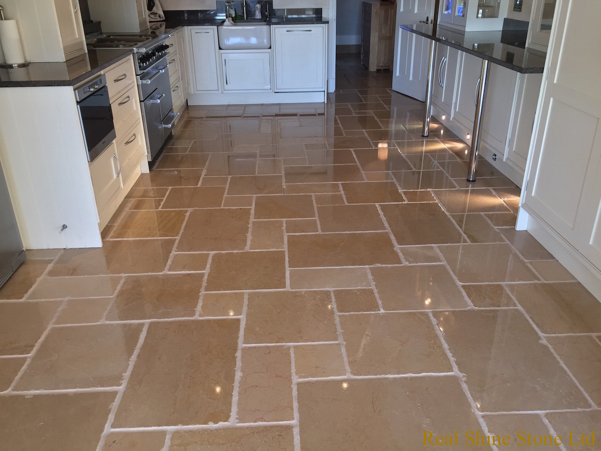 Polishing Limestone floor - after