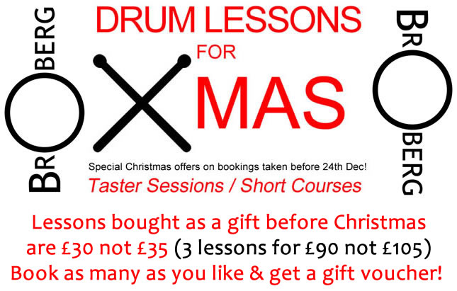 Drum Lessons For Christmas Stafford Stone Uttoxeter