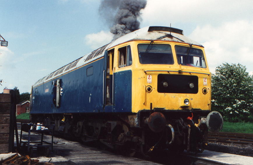 The first time 47105 was started as a preserved loco at Toddington May 1994