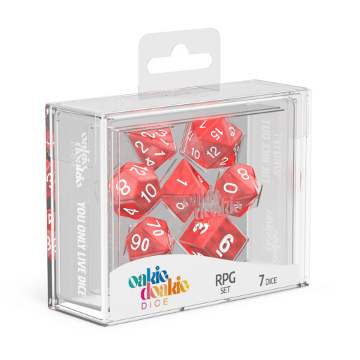 Marble Red RPG Dice Set